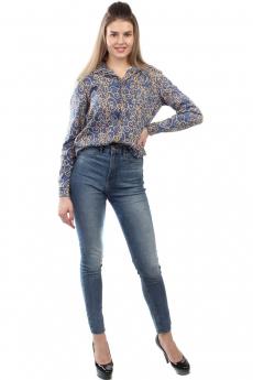Синяя блузка с рисунком Bast