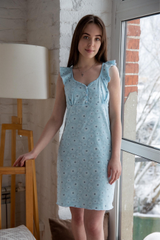 Хлопковая сорочка на широких бретельках Lika Dress
