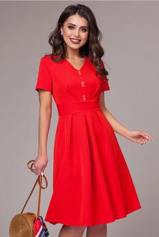 Красное платье с коротким рукавом CHARUTTI