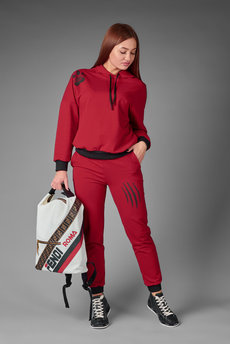Бордовый спортивный костюм Трикотажница