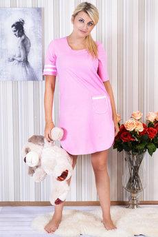 Розовая ночная сорочка Трикотажница