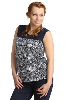 Блузка с геометрическим узором ElenaTex