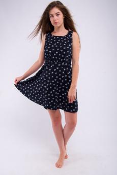 Черное платье из хлопка Malina