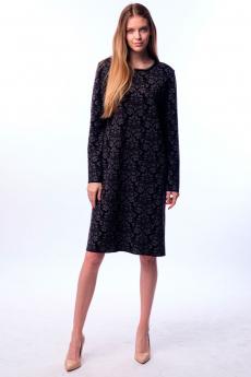 Черное трикотажное платье Kvinto