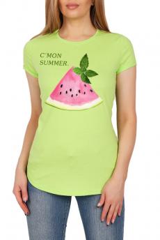 Салатовая футболка с арбузом Милана