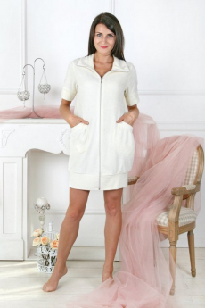 Махровый халат с карманами Милана